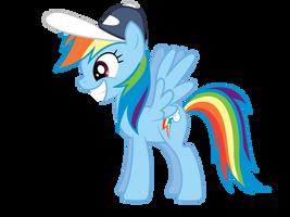 Incredibly Happy Rainbow Dash by Atmospark