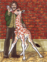 Howard and baby Giraffe by StarWarsQueen