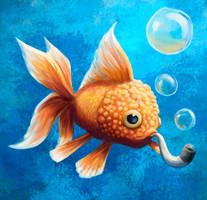 Lionhead Fish by SpikedMcGrath