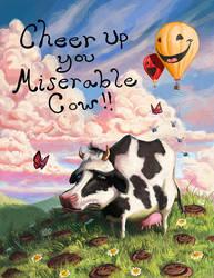Miserable Cow by SpikedMcGrath