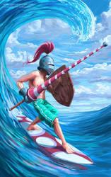 Surf Knight by SpikedMcGrath