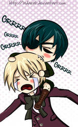 Alois vs Ciel by indarat