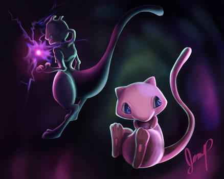 Mewtwo And Mew Fan Art T