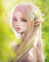 Forest Elf Under the Sunshine by XhiliJP