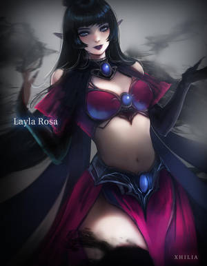 Layla Rosa - Shadow Mage by Xhilia7
