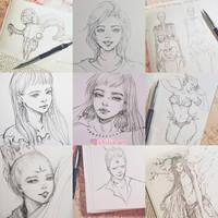 pencil doodles by XhiliJP