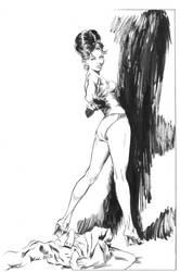 Robert McGinnis study 01 line art by ShawnVanBriesen