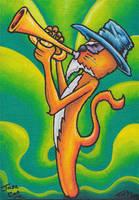 Jazz Cat by Inkyhollow