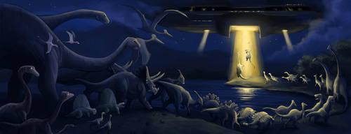 Dinosaur Ark by aragornbird
