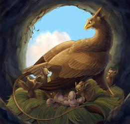 January - Griffon Family by aragornbird