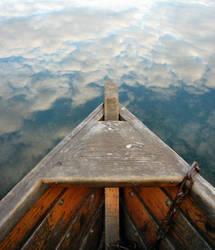 Rowing in clouds by SwirlingLeaf