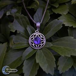 Balance Celtic necklace Handmade marble stone by Nyjama
