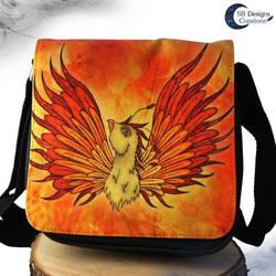 Phoenix bag - Fantasy shoulder bag - illustration by Nyjama