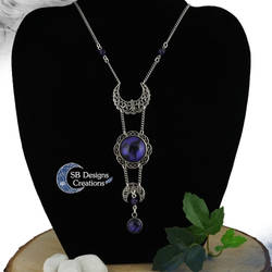 Moon phases amethyst necklace - Moonwitch by Nyjama