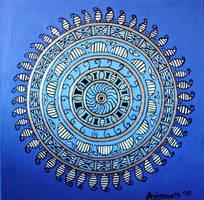 Sun Mandala in Purple by tonyarama