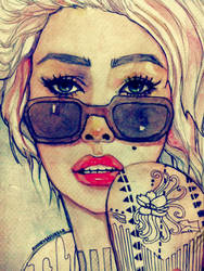 Tattoo Girl by rinnemarielle