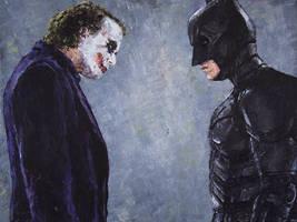 Batman and Joker by radarlove413