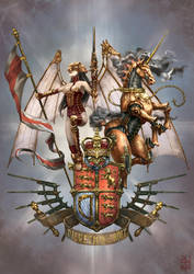Britain coat of arms- by XRobinGoodFellowX