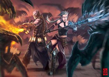 Magic Battle- by XRobinGoodFellowX