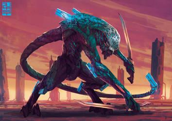 Biomech Fighter- by XRobinGoodFellowX