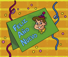 Chabelo: postal Anio Nuevo04 by satchmau