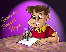Chabelo: postal Reyes Magos 01 by satchmau