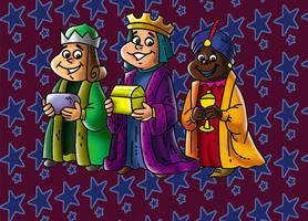 Chabelo: postal Reyes Magos 02 by satchmau