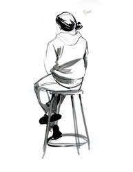 5 min sketch by Oniwolf12