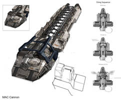 UNSC MAC: Mass Driver {Onager} by ThelVoramee