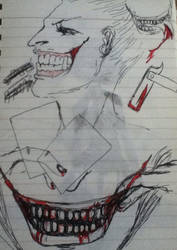 Joker sketch by PsychoticLaughter