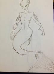 Mermaid by PsychoticLaughter