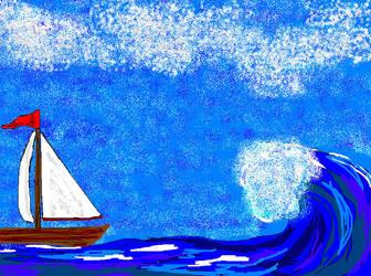 sail and ocean by Narnia-Rose