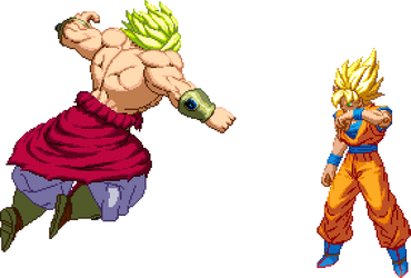 Goku (Super Saiyan) Vs Broly (Legendary Super Saiy by Lol8ossman