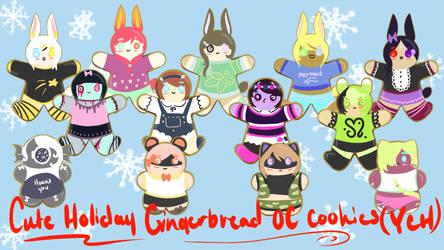 [Ych] Gingerbread OC cookies [open] by kar-tilki