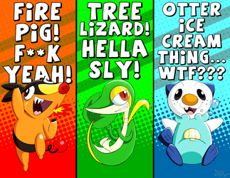 Starter Pokemans by DDRshaman38