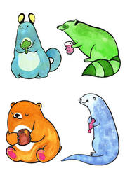 Animal Buddies by ypyp