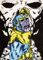 Thanos - Throne of Death by jamsketchbook