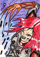 Lady Deathstrike Sketch Card by jamsketchbook