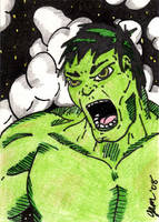 Incredible Hulk Sketch Card by jamsketchbook