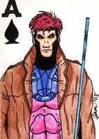 Gambit Sketch Card by jamsketchbook