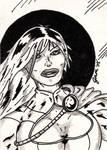 Power Girl Sketch Card by jamsketchbook