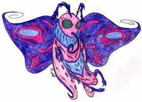 Rainbow Moth by jamsketchbook