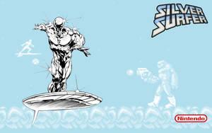 Silver Surfer NES Wallpaper by jamsketchbook