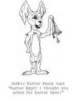 Zombie Easter Bunny by jamsketchbook