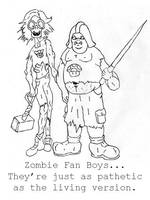 Zombie Fan Boys by jamsketchbook