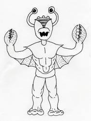 B-Movie Crab Monster by jamsketchbook
