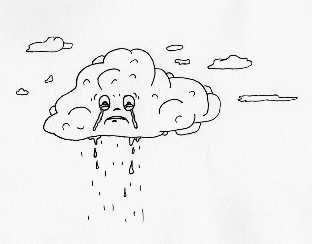 Sad Cloud by jamsketchbook