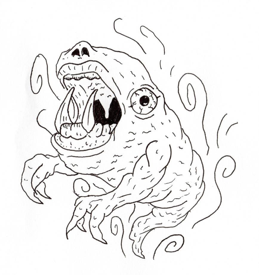 Chomper Ghost by jamsketchbook