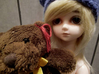 Akira and the Teddy ~ by RainbowSlush