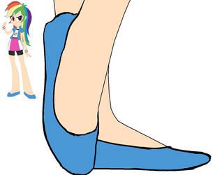 Rainbow Dash in Ballet Flats EQG 2 by BrendyFlatsMJFF